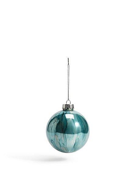 Aqua Marble Effect Bauble
