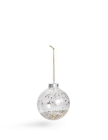Glitter in Glass Bauble