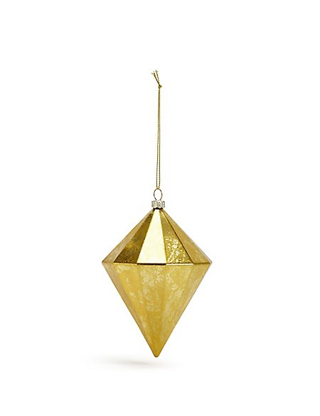 Gold Faceted Diamond Bauble