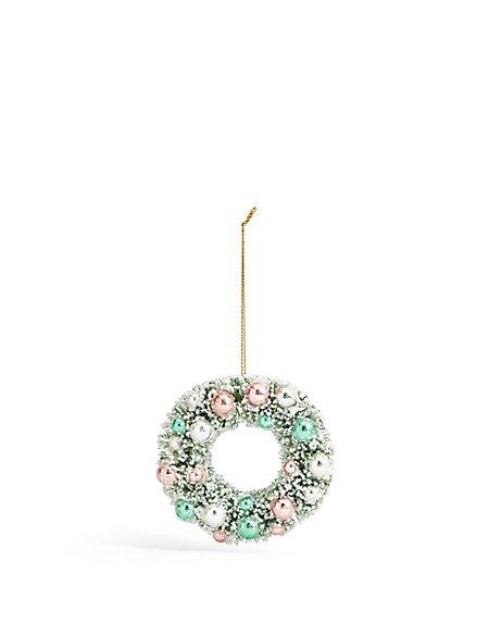 Pink Wreath Bauble