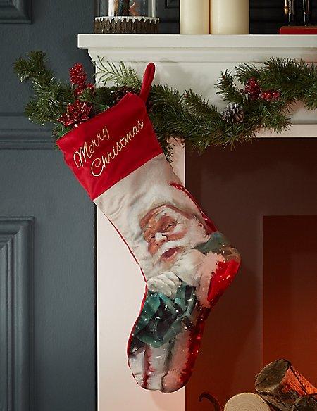 Festive Santa Stocking