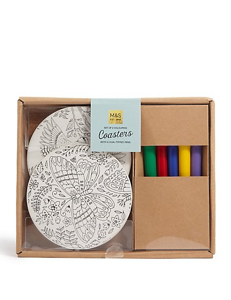 Colour Your Own Coasters
