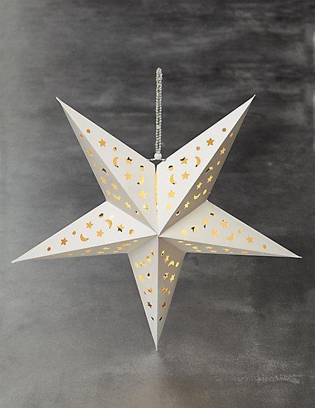 Lit Large Laser Cut Star