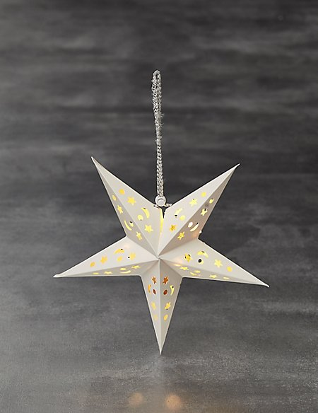 Lit Small Laser Cut Star