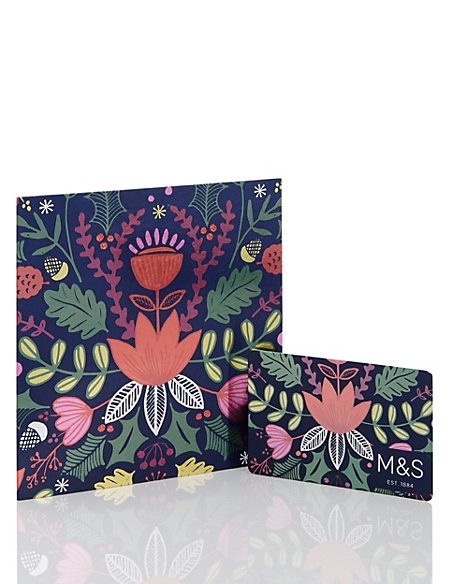 Foiled Floral Gift Card