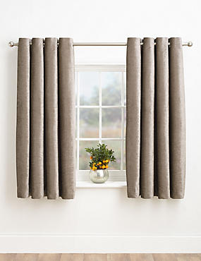 Chenille Eyelet Curtains