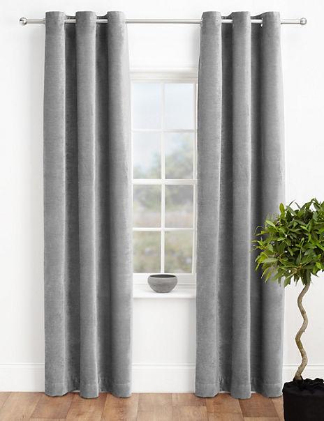 Chenille Eyelet Curtains