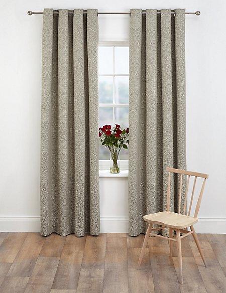 Mythology Jacquard Eyelet Curtains