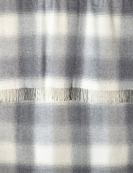 Monochrome Check Throw