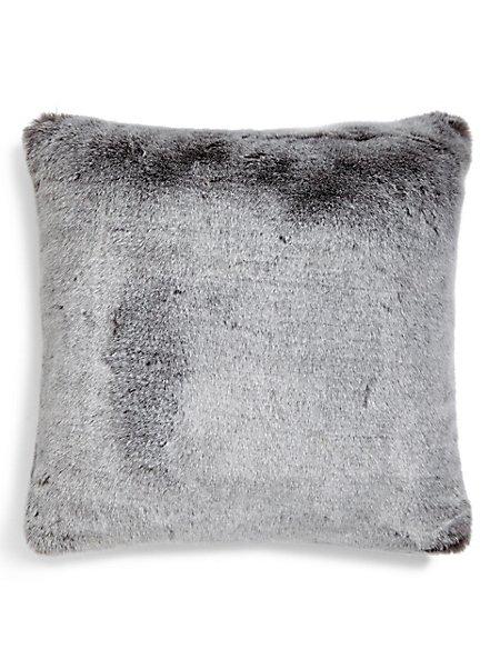 Faux Fur Tipped Cushion