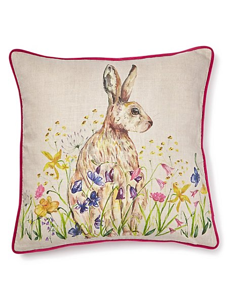 Watercolour Hare Cushion