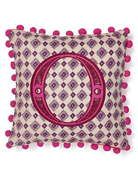 Alphabet Cushion O