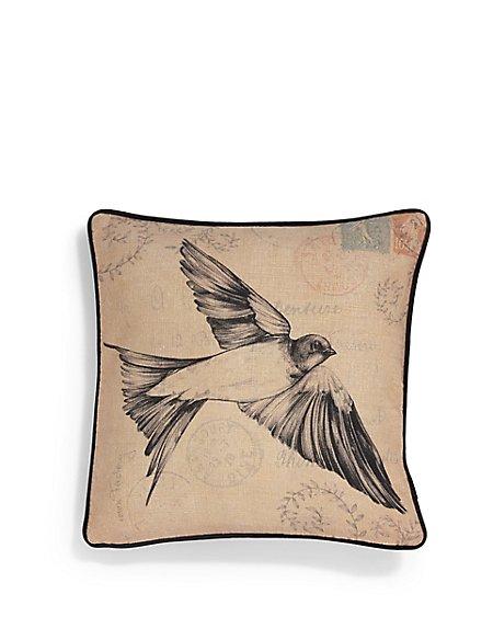 Swallow Print Cushion