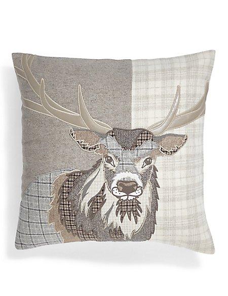Applique Stag Cushion