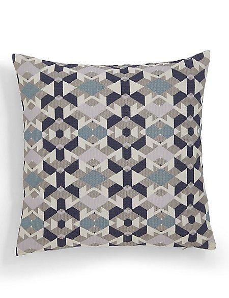 Geometric Jacquard Cushion