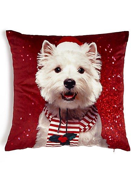 Christmas Westie Cushion