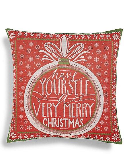 Bauble Jacquard Cushion