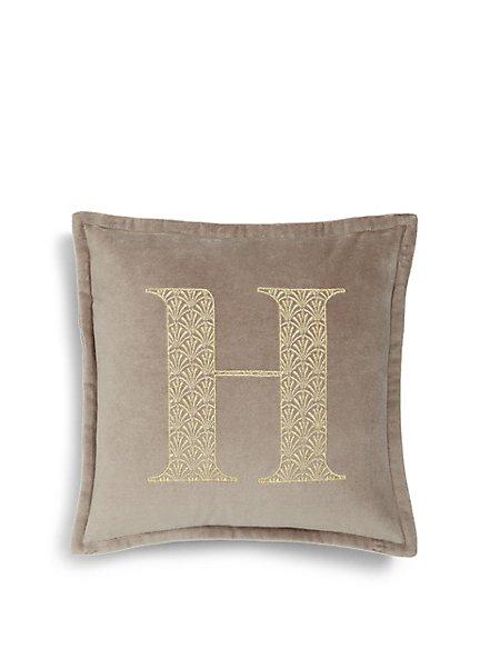 Letter H Cushion