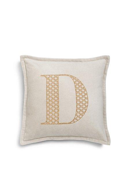 Letter D Cushion