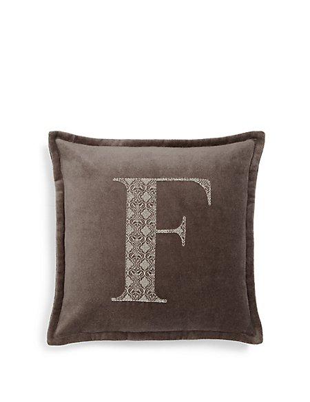 Letter F Cushion