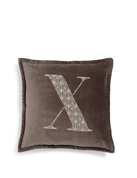 Letter X Cushion