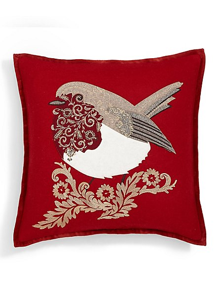Robin Applique Cushion