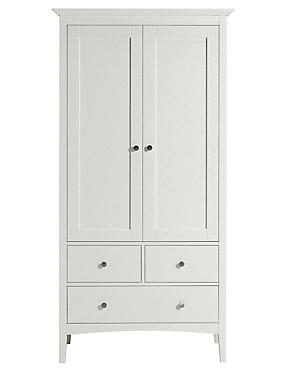 Hastings Double Wardrobe Grey