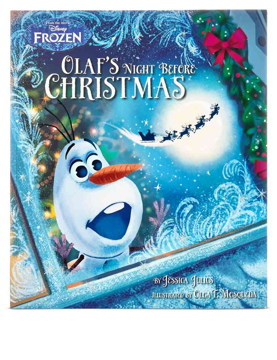 Disney Frozen Olaf\'s Night Before Christmas Story Book | M&S