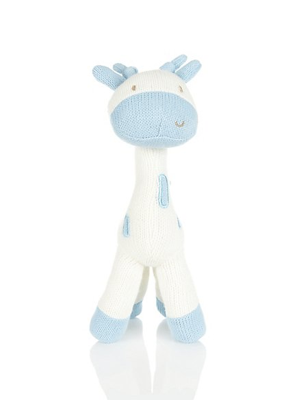 Knitted Giraffe Soft Toy