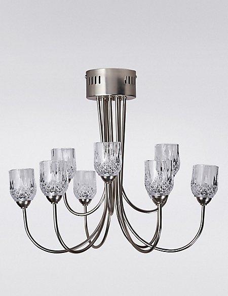 Olivia Cut Glass Tea Light 9lt Candelabra