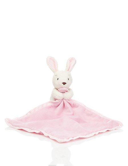 Striped Bunny Soft Toy