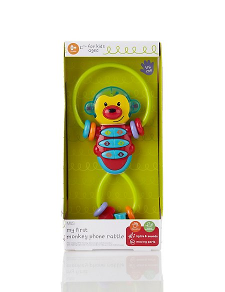 My First Monkey Phone Rattle Toy