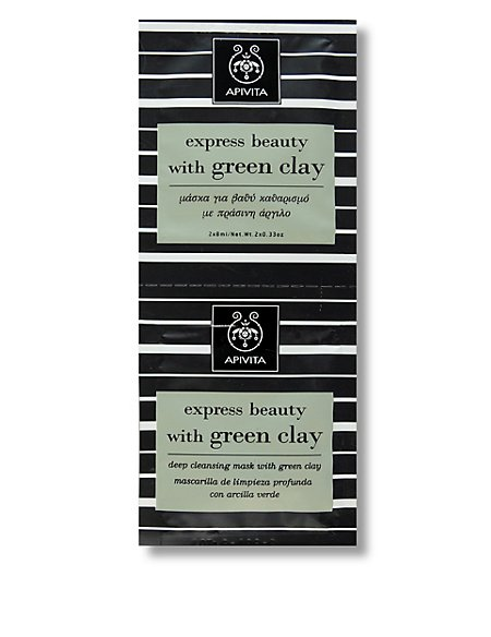 Express Beauty with Green Clay Masks 2 x 8ml