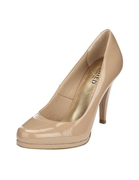 Stiletto Heel Platform Court Shoes