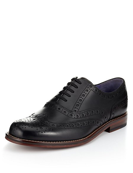 Marks and Spencer Leather Layered Sole Brogue Shoes brown Free Shipping Very Cheap Vvyn5L3
