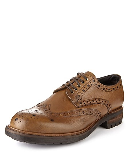 Made In Italy Leather Heavy Sole Brogues