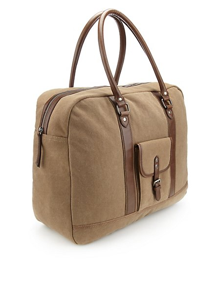 Pure Cotton Canvas Holdall
