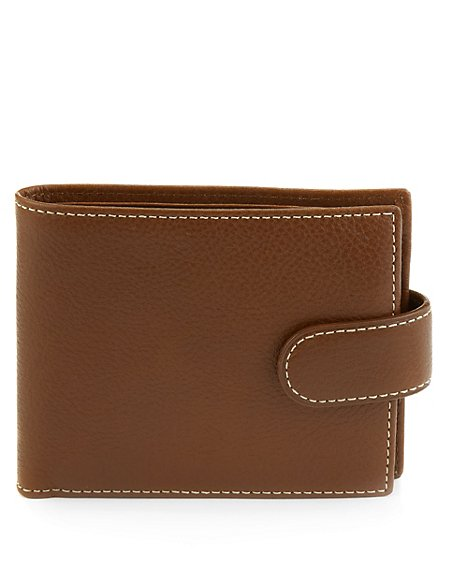 Leather Tab ID Wallet