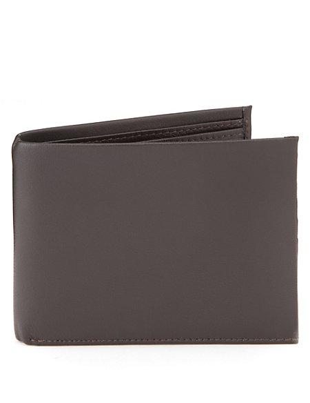 Leather Tab Billfold Wallet