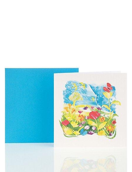 Classic Landscape Scene Blank Card