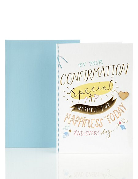 Contemporary Special Wishes Confirmation Card