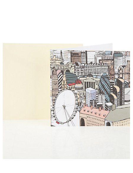 Graphic London Blank Greetings Card
