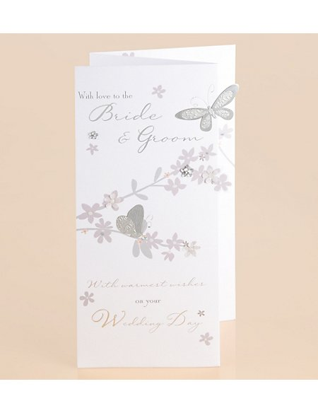 Classic Butterfly Wedding Card