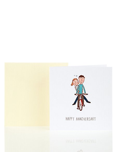 Fun Illustrated Couple Anniversary Card