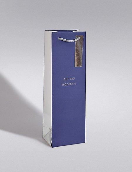 Navy & Silver Bottle Bag