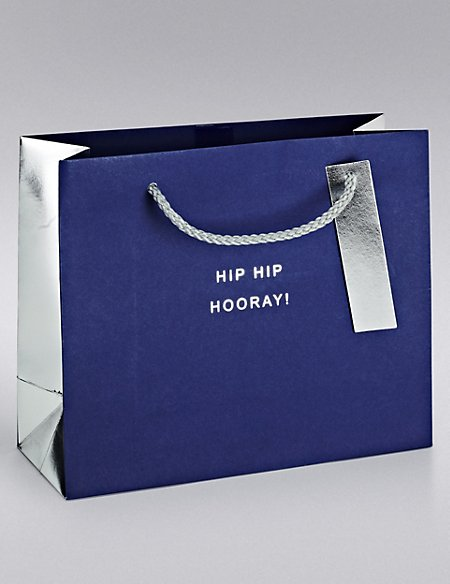 Navy & Silver Small Gift Bag