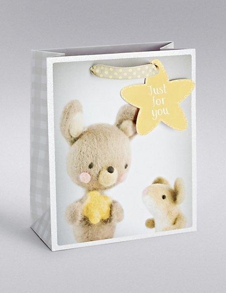 Baby Bunny & Mouse Medium Gift Bag
