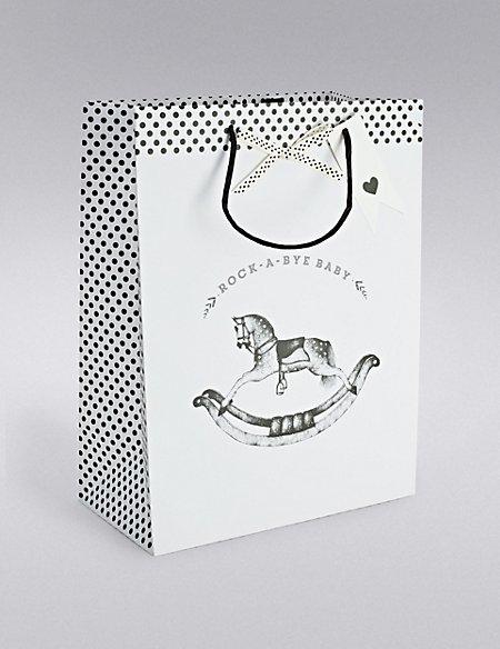 Rocking Horse Large Gift Bag