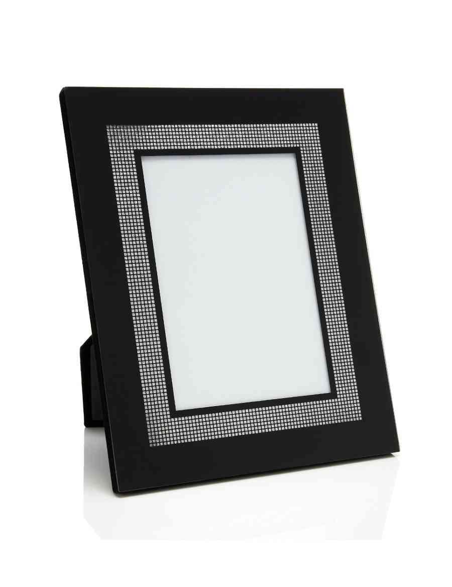 Glitter Black Photo Frame 13 x 18 cm (5 x 7\'\') | M S Brand | M&S