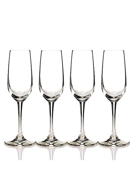 4 Champagne Flute Set